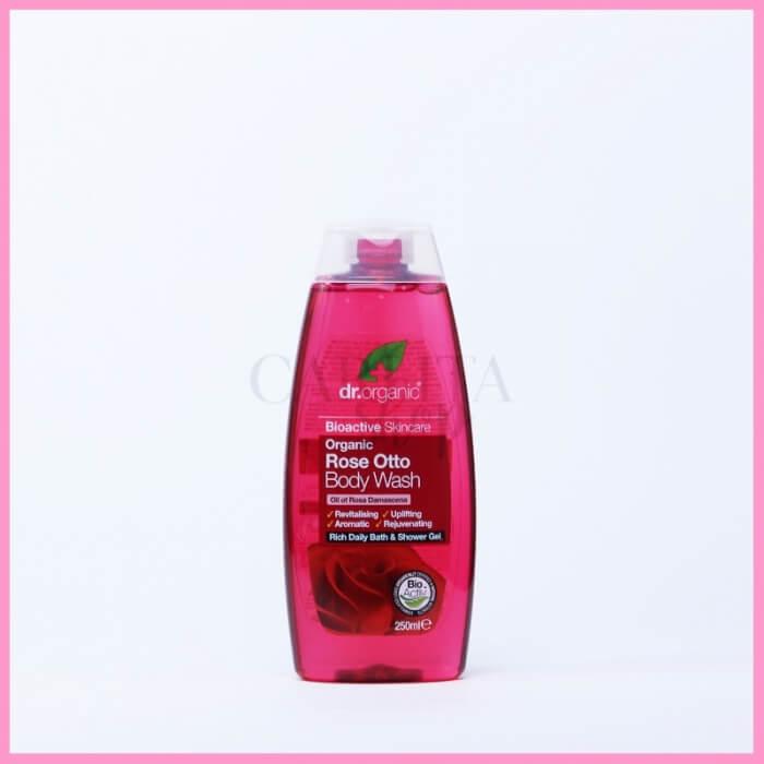 Gel bagnodoccia biologico alla rosa damascena Dr Organic