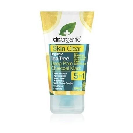 Skin clear Maschera al carbone Pelle Impura con olio di tea tree Dr Organic